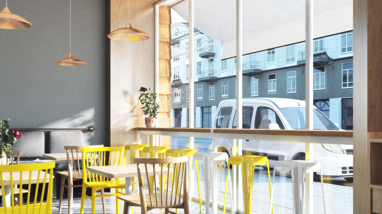 花晨餐饮空间形象设计